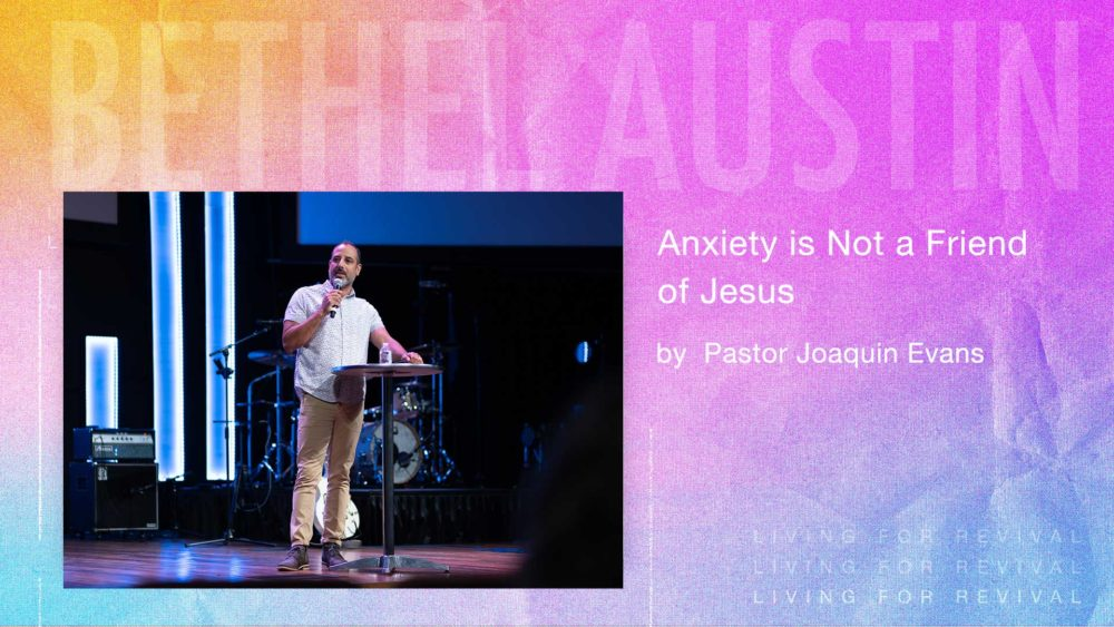 Anxiety is Not a Friend of Jesus Image